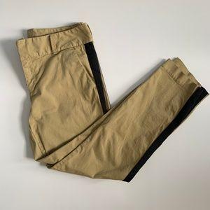 J. Crew Tuxedo stripe Andie chino Skinny Pants